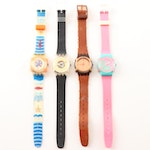Vintage Swatch Wristwatches Including Tour, Pelota, Tee and Tweed