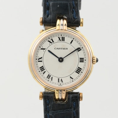 Cartier Panthère Tri Tone 18K Gold Quartz Wristwatch