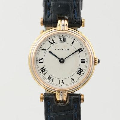 Cartier Panthère Tri Tone 18K Gold Quartz Wristwatch