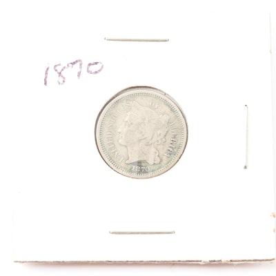 1870 Nickel Three-Cent Piece