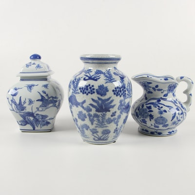 Chinese Blue and White Ceramic Vessels