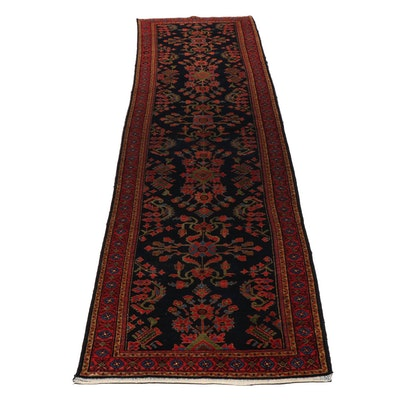 Hand-Knotted Persian Mahal Wool Carpet Runner