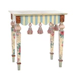 MacKenzie-Childs Trompe l'oeil Marble Painted Beech Side Table