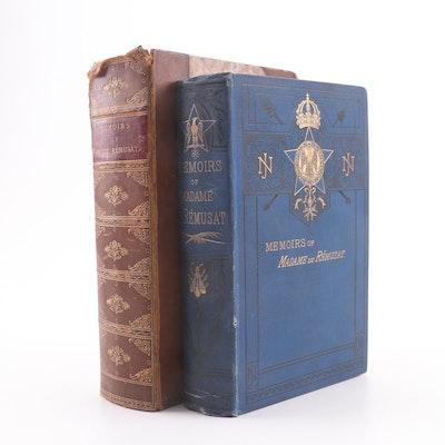 """1880 Complete """"Memoirs of Madame de Rémusat"""" and Volume One by Paul de Rémusat"""