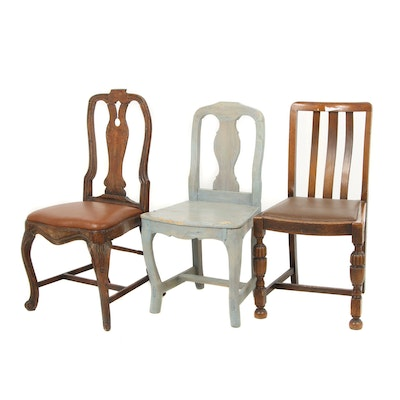 Three Married Chairs, Circa 18th-19th Century