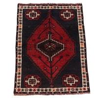 Hand-Knotted Persian Abadeh Shiraz Wool Rug