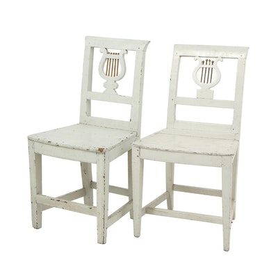 Pair of Empire Gustavian Chairs, Circa 1820