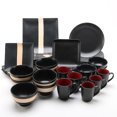 "Mikasa ""Bamboo Black"" Stoneware and Other Dinnerware"