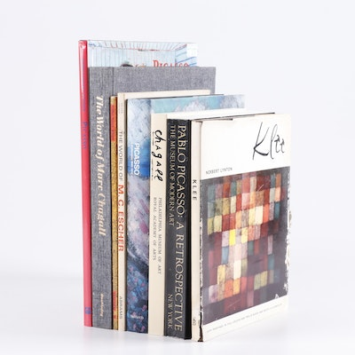 Art Books Including Picasso, Klimt and Chagall