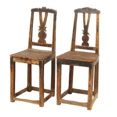 Pair of Danish Barock Chairs, Circa 1680