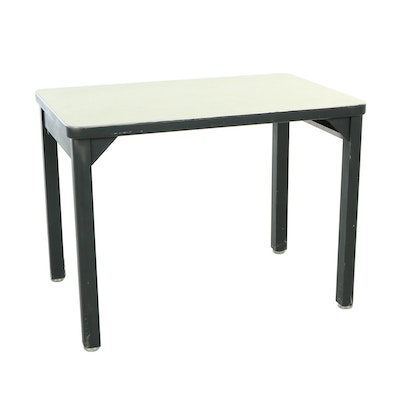 Steelcase, Ebonized Metal and Laminate-Top Work Table, Mid 20th Century