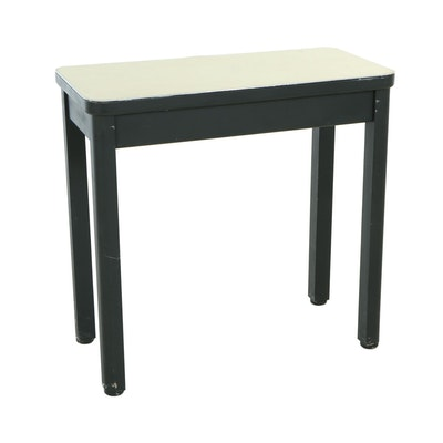 Steelcase, Ebonized Metal and Laminate-Top Side Table, Mid 20th Century