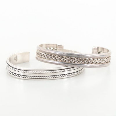 Mexican Sterling Silver Cuff Bracelets