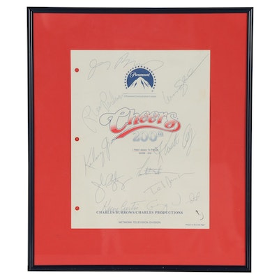 "Autographed ""Cheers"" 200th Episode Script Cover"