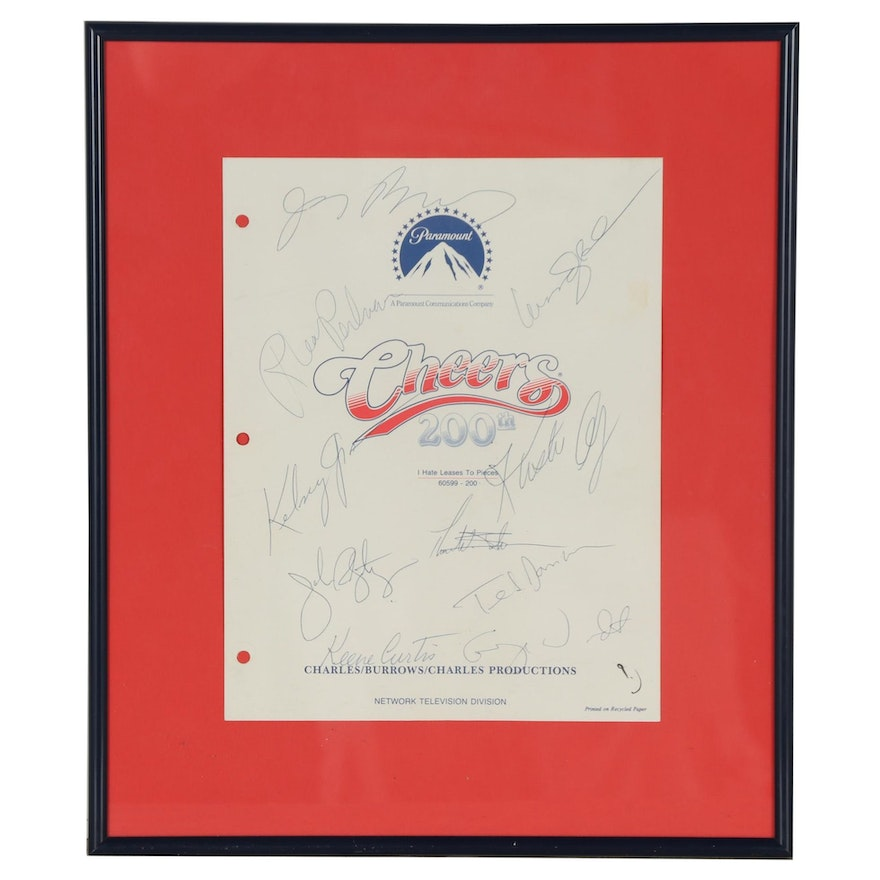 """Autographed """"Cheers"""" 200th Episode Script Cover"""