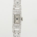 Vintage Ruth Platinum and 2.39 CTW Diamond Wristwatch