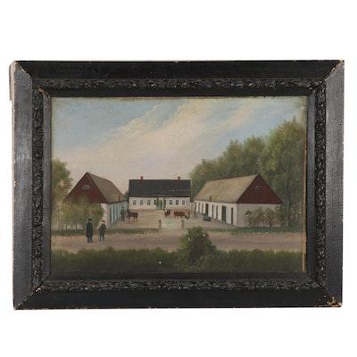 19th Century Genre Scene Oil Painting