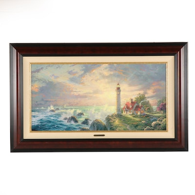 "Thomas Kinkade Giclee ""The Guiding Light"""