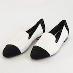 """Anne Fontaine """"Fleur"""" Suede Low Heel Loafers"""
