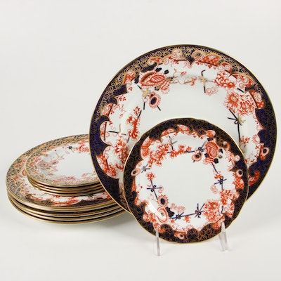 Royal Crown Derby Porcelain Dinner and Salad Plates