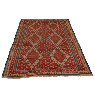 Handwoven Persian Wool Kilim Rug