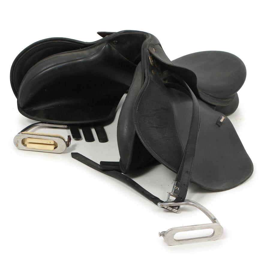 Wintec Black Leather English Dressage Saddle