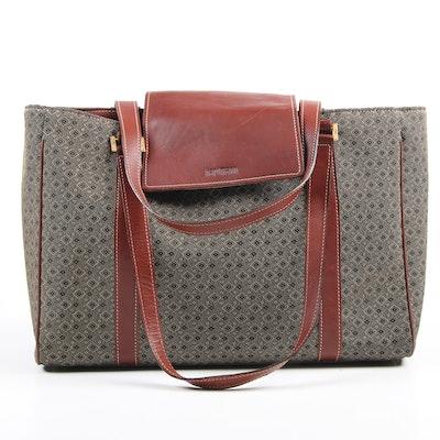 Hartmann Diamond Jacquard Laptop Tote Bag with Leather Trim
