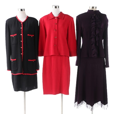 St. John Collection and Evening Skirt Suit Knit Separates