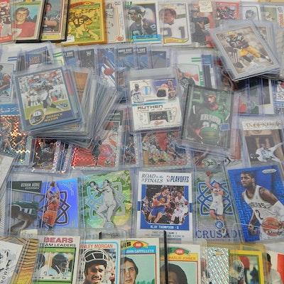 Sports Card Collection with Baseball, Basketball, Football
