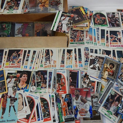Basketball Star Rookie and Insert Card Collection, 1970s to 2000s