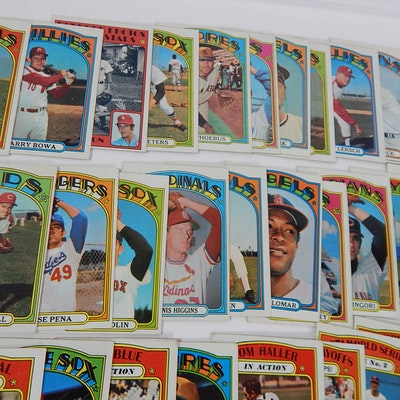 1972 Topps Baseball Card Collection with Team Cards, Rookies