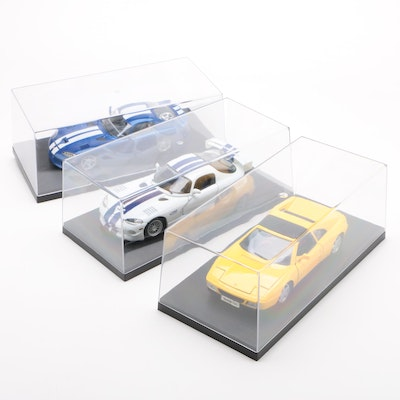 Diecast Cars including BBurago Viper GTS Coupe