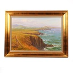 "Kevin Hood Landscape Oil Painting ""Purple Hazes - Sua Head Dingle"""