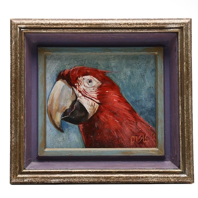 Oil Painting of Parrot