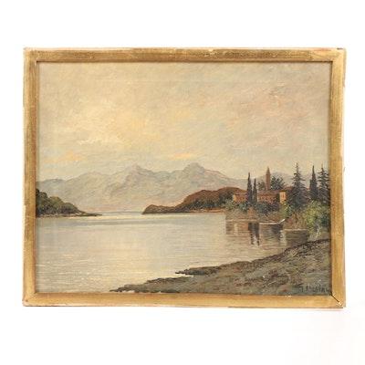G. Luciani Oil Landscape Painting
