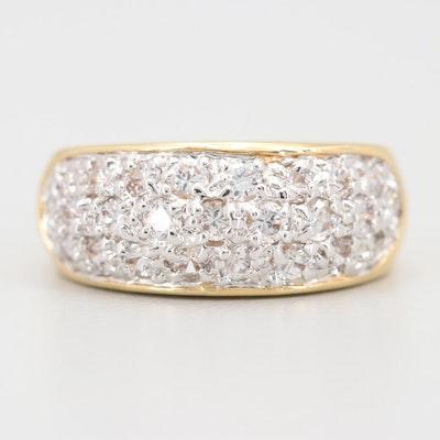 Yellow Gold Tone Cubic Zirconia Ring