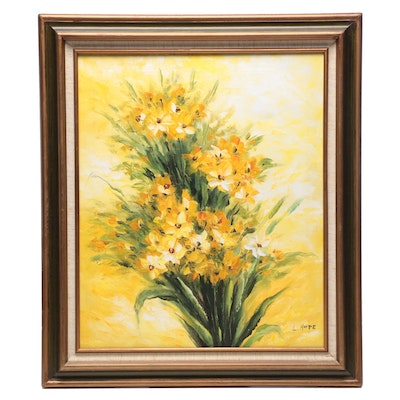 Oil Painting of Yellow Flowers