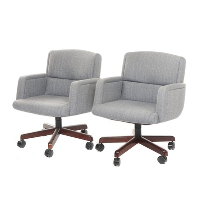 """Pair of Stow & Davis Richard Schultz """"Paradigm"""" Upholstered Office Chairs, 1990"""
