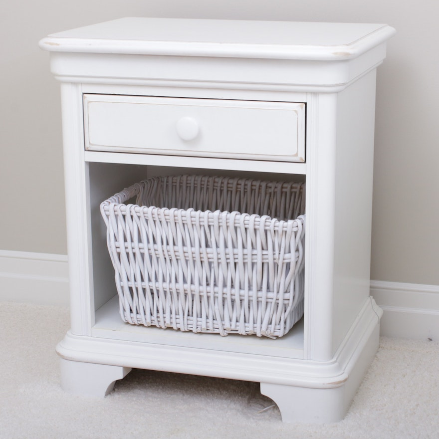 Hooker Distressed Finish End Table, Contemporary