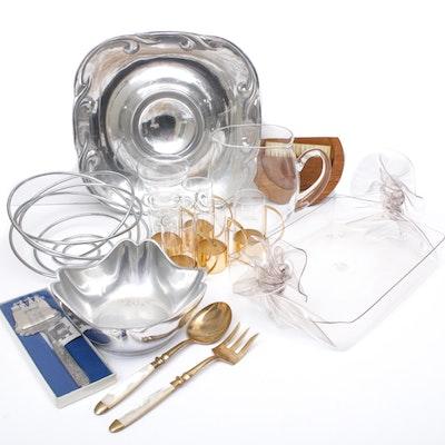 Scandinavian Modern Serveware and Drinkware, Vintage and Contemporary