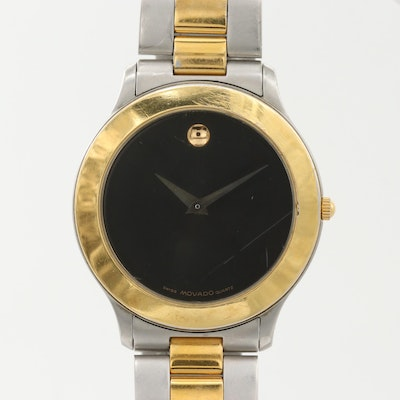 "Movado ""Museum Piece"" Two-Tone Quartz Wristwatch"