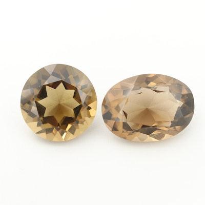 Loose 102.38 CTW Smoky Quartz Gemstones