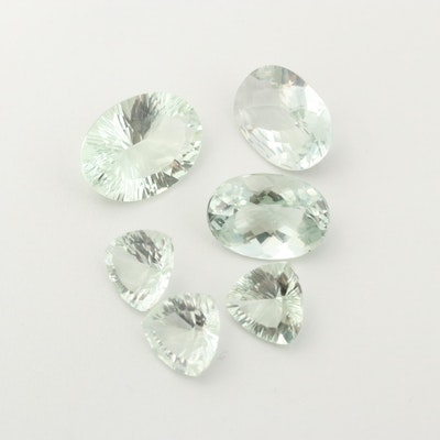 Loose 51.82 CTW Praseolite Gemstones