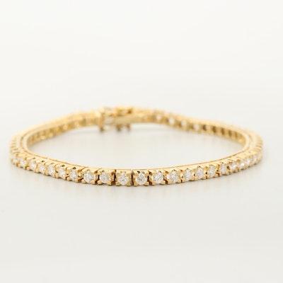 18K Yellow Gold 2.50 CTW Diamond Tennis Bracelet