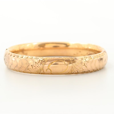 Vintage Engraved Bangle Bracelet