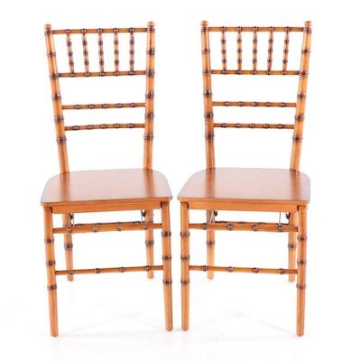 Pair of Ballard Designs Bamboo Folding Chairs