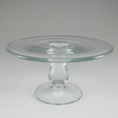 Contemporary Glass Cake Plate