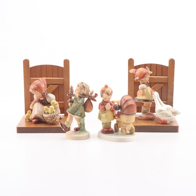 Goebel Hummel Porcelain Figurines and Bookends