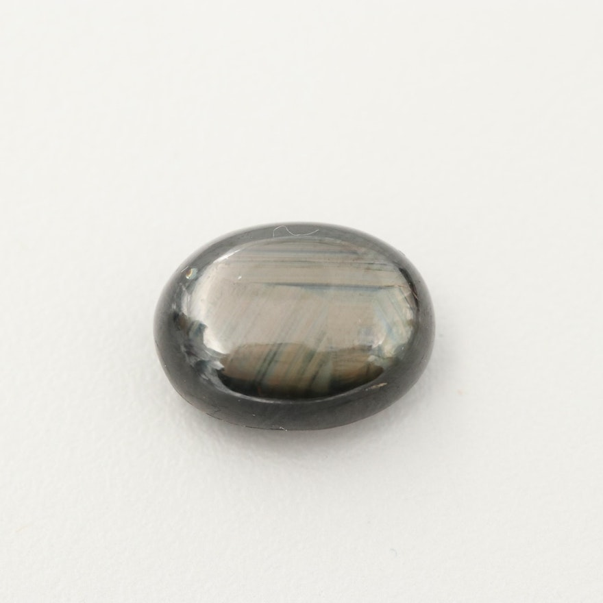 Loose 13.44 CT Black Star Sapphire Gemstone