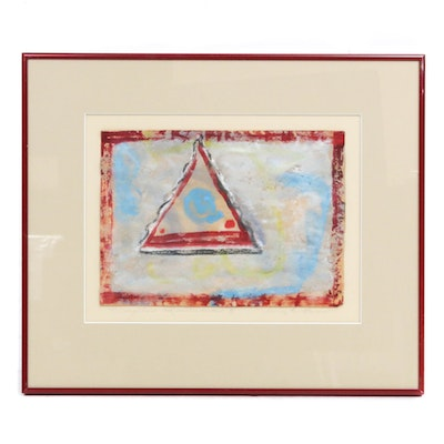 "Abstract Mixed Media Painting ""Triangular Renaissance II"""